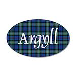 Tartan - Argyll dist. 20x12 Oval Wall Decal