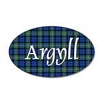 Tartan - Argyll dist. 35x21 Oval Wall Decal