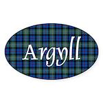 Tartan - Argyll dist. Sticker (Oval 10 pk)
