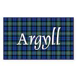 Tartan - Argyll dist. Sticker (Rectangle 50 pk)