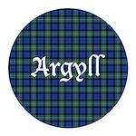 Tartan - Argyll dist. Round Car Magnet