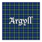 Tartan - Argyll dist. Square Car Magnet 3