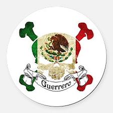 Guerrero Skull Round Car Magnet