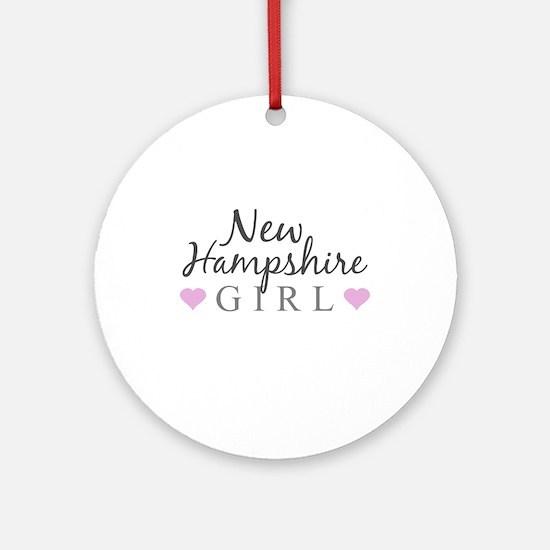 New Hampshire Girl Ornament (Round)