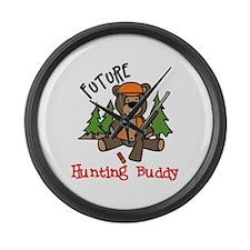 Hunting Buddy Large Wall Clock