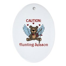 Hunting Season Ornament (Oval)