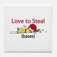 Love to Steal Tile Coaster