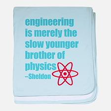 Big Bang Theory - Engineering Quote baby blanket