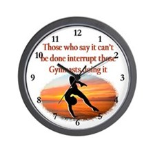 INSPIRING GYMNAST Wall Clock