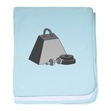Work Out Weights baby blanket