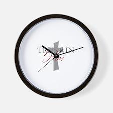 Funny Trust jesus Wall Clock