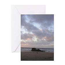 Perranporth Beach Card Greeting Cards