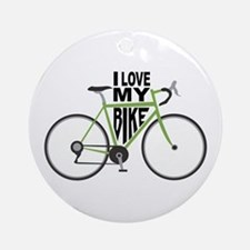 I Love My Bike Ornament (Round)