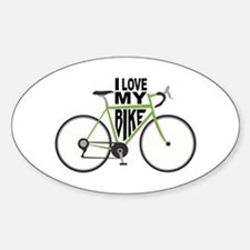 I Love My Bike Decal