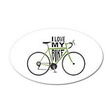I Love My Bike Wall Decal