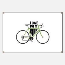 I Love My Bike Banner