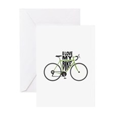 I Love My Bike Greeting Cards