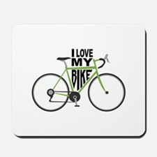 I Love My Bike Mousepad