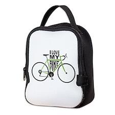 I Love My Bike Neoprene Lunch Bag