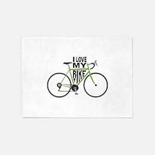 I Love My Bike 5'x7'Area Rug