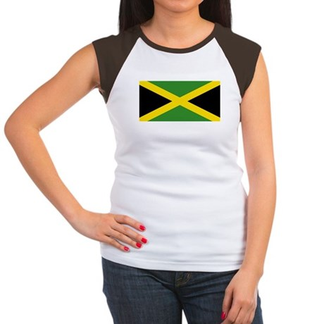 Jamaican Flag Women's Cap Sleeve T-Shirt