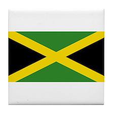 Jamaican Flag Tile Coaster