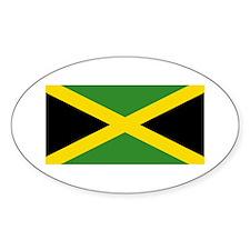 Jamaican Flag Oval Decal