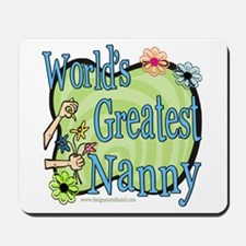 Greatest Nanny Floral Mousepad