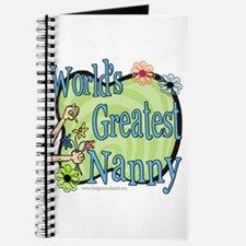 Greatest Nanny Floral Journal