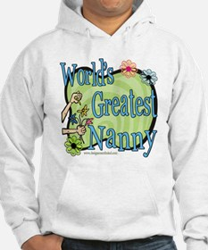 Greatest Nanny Floral Hoodie