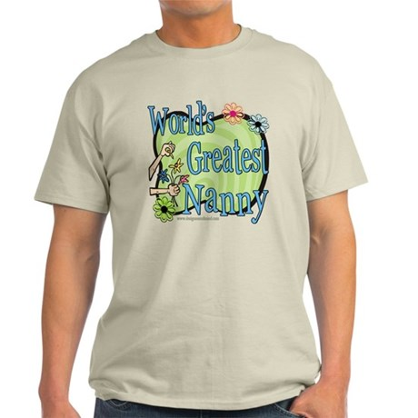 Greatest Nanny Floral Light T-Shirt