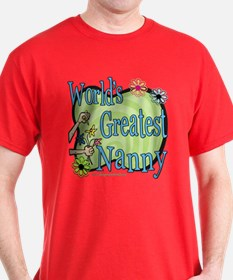 Greatest Nanny Floral T-Shirt