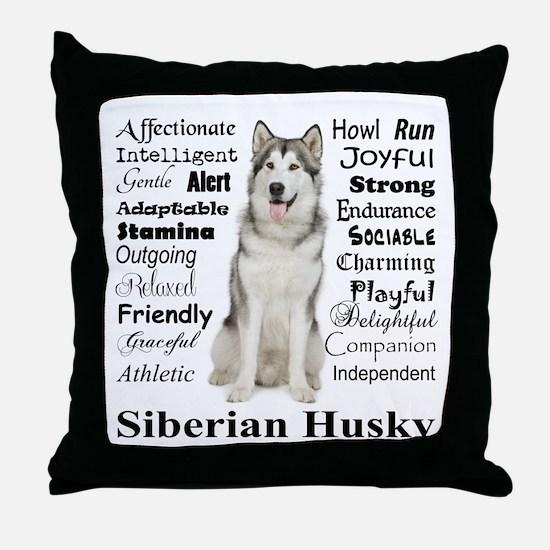 Cute Traits Throw Pillow