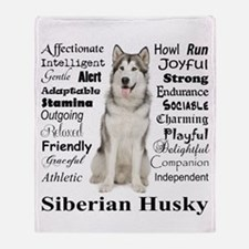 Cute Huskies Throw Blanket