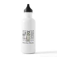 Funny Siberian husky Water Bottle