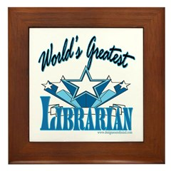Greatest Librarian Framed Tile