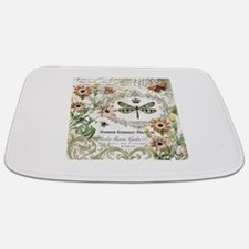 modern vintage French dragonfly Bathmat