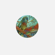 Tropical Parrot Mini Button