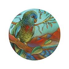 """Tropical Parrot 3.5"""" Button"""