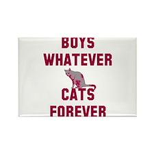 Boys whatever cats forever Rectangle Magnet
