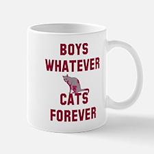 Boys whatever cats forever Mug