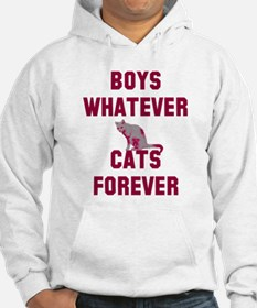Boys whatever cats forever Hoodie