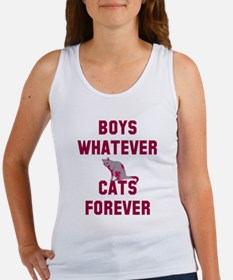 Boys whatever cats forever Women's Tank Top