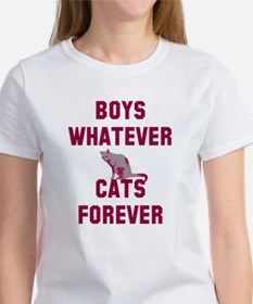 Boys whatever cats forever Tee