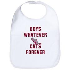 Boys whatever cats forever Bib