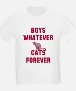 Boys whatever cats forever T-Shirt