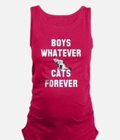 Boys whatever cats forever Maternity Tank Top
