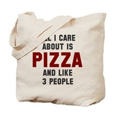 I care about pizza Tote Bag