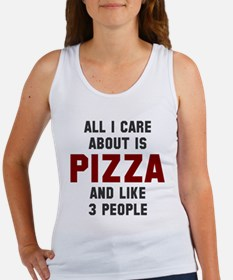 I care about pizza Women's Tank Top