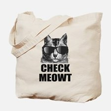 Check Meowt Tote Bag